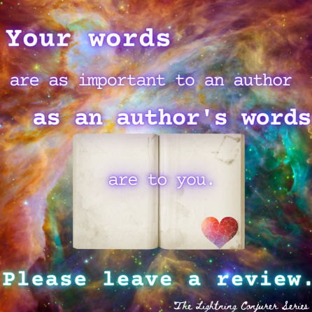Your words are as important to an author as an authors words are to you
